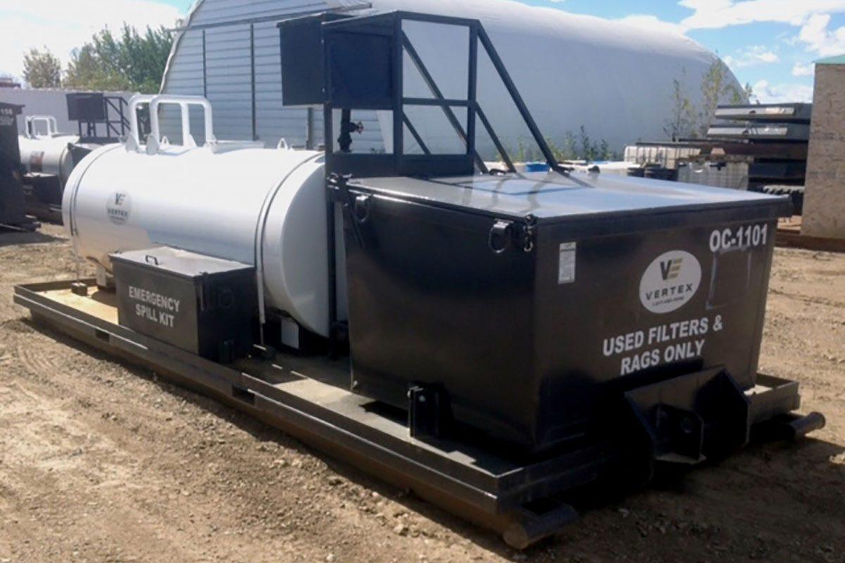 Vertex | Waste Management & Recycling Services - Oil Skids